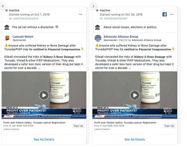 How to spot deceptive drug injury ads like the HIV-related videos Facebook just disabled