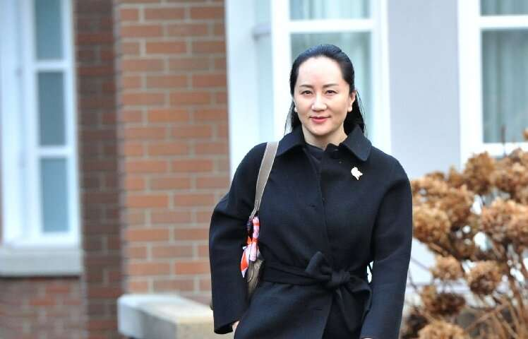 Huawei chief financial officer Meng Wanzhou, under house arrest in Canada pending an extradition request from the United States,