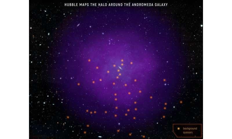 Hubble maps giant halo around Andromeda Galaxy Hubblemapsgi