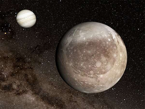 Huge ring-like structure on Ganymede's surface may have been caused by violent impact
