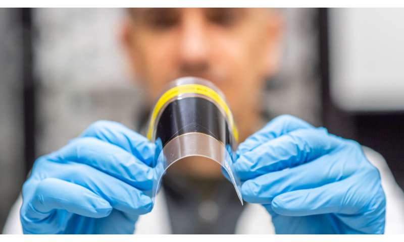 Image: Bendy, ultra-thin solar cell