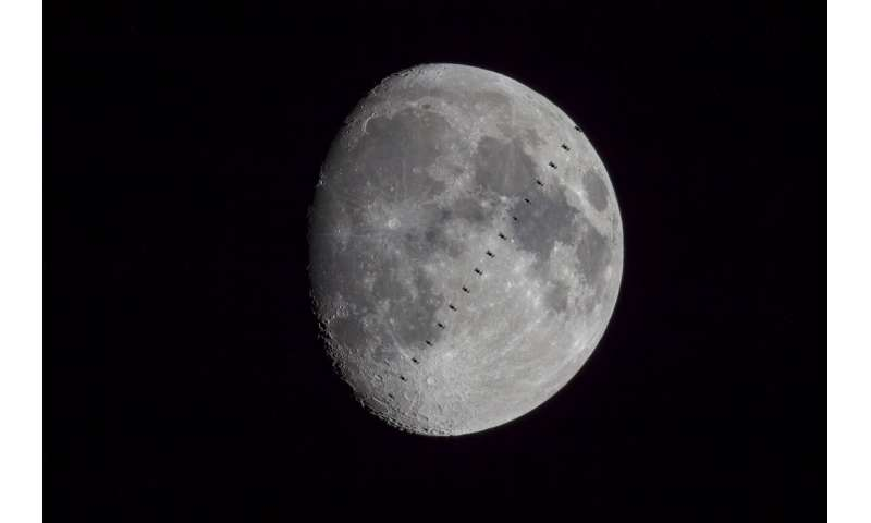 Image: International Space Station transits the moon
