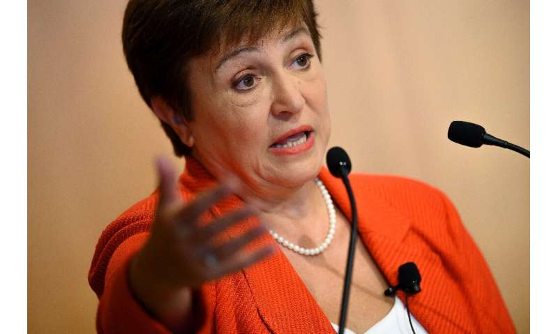 IMF Managing Director of the International Monetary Fund Kristalina Georgieva (pictured January 2020) said that in too many coun