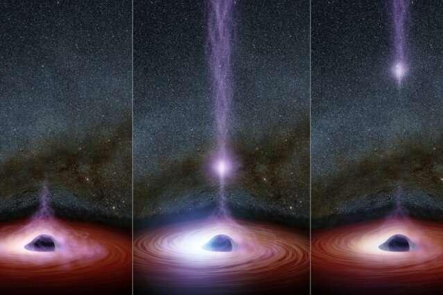 Dans un premier temps, les astronomes regardent la couronne d'un trou noir disparaître, puis réapparaissent