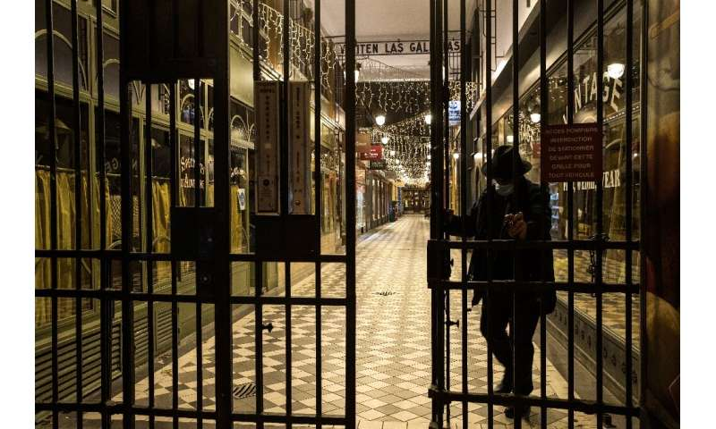 In France, shops shut at 8:00 pm as part of a new overnight curfew