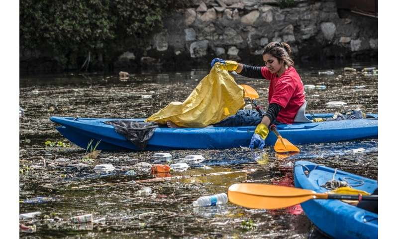 In the past three years, the environmental activists say they have picked some 37 tonnes of rubbish from the waters and shores a