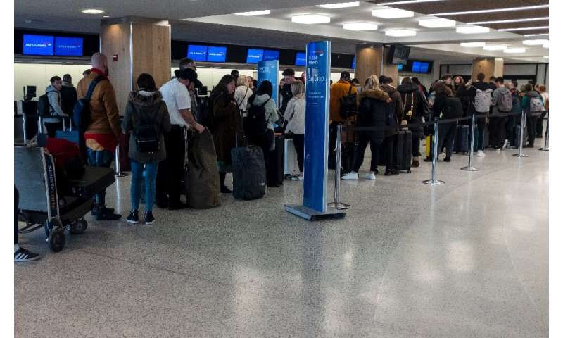 In the US, passengers complained of massive queues as staff battled with new entry rules and stipulations on medical screening
