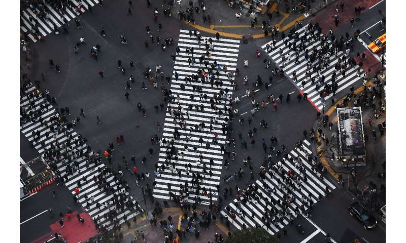 In Tokyo, popular neighbourhoods like Shibuya and Harajuku are crammed with teenagers during the school closures