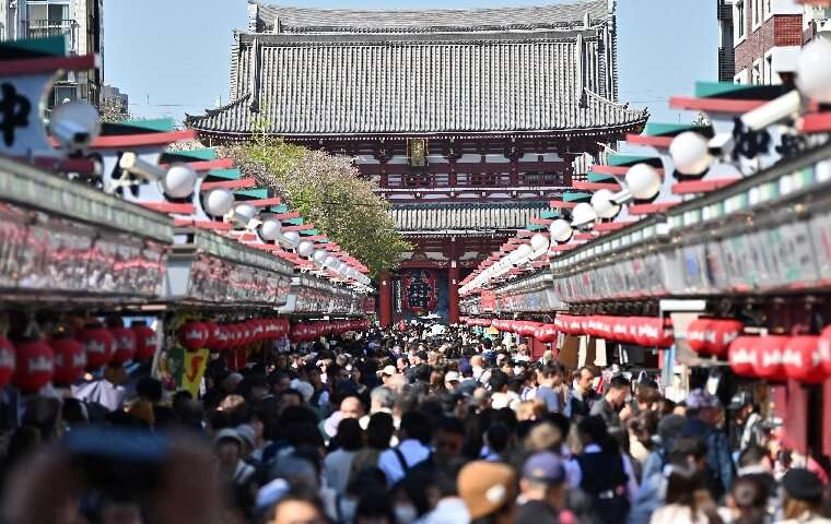 In Tokyo the slump in mainland Chinese visitors - as well as South Koreans - is hammering tourist areas