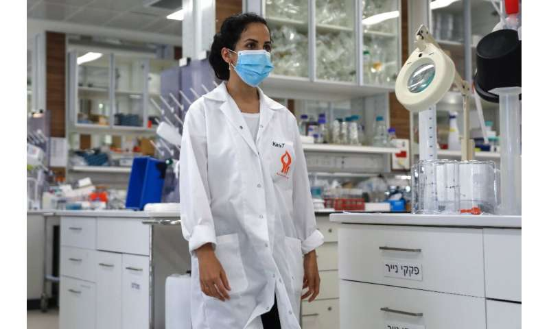 Israeli researcher Karin Yaniv working at Ben Gurion university's biotechnology engineering department in the southern Israeli c