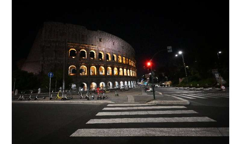 Italy has imposed a national curfew for the night to fight the virus