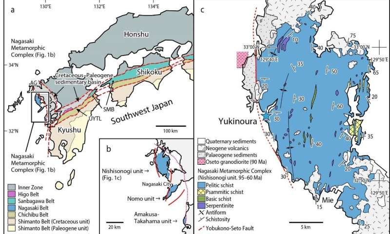 Japan's geologic history in question after discovery of metamorphic rock microdiamonds