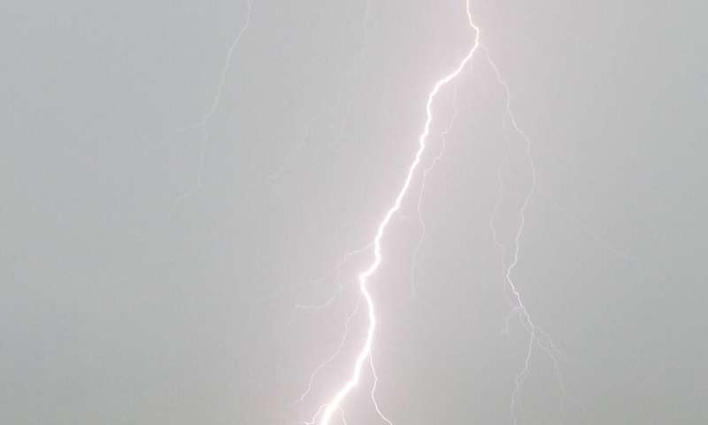 Lightning strikes more than 100 million times per year in the tropics