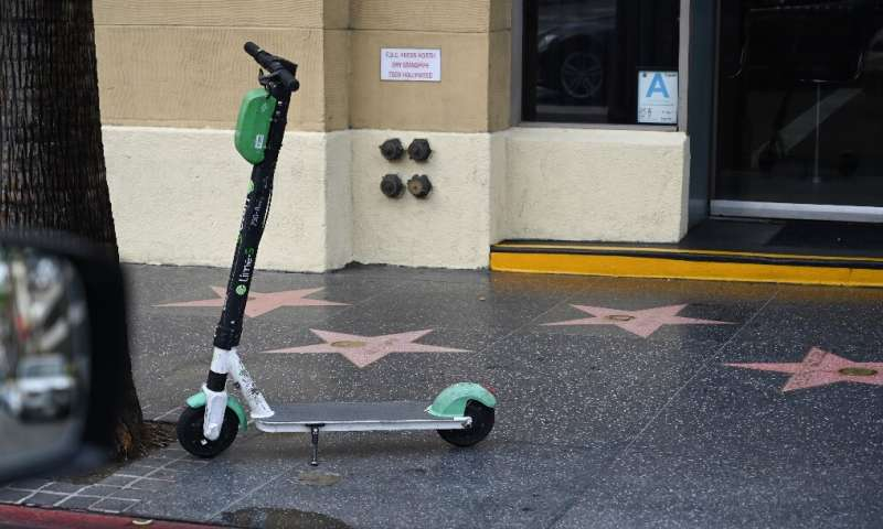 Lime company said it was pulling its popular scooter—seen her in US entertainment capital Hollywood—from most of Europe