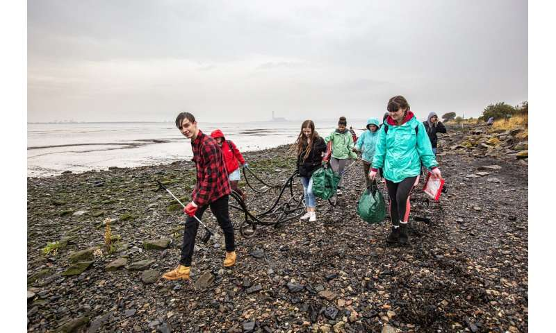 Litter problem at England's protected coasts