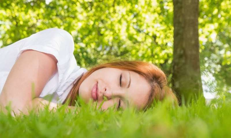 Living in an area with more tree canopy improves people's odds of getting enough sleep