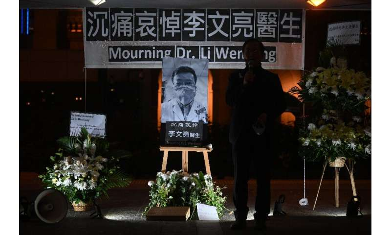 """Li Wenliang, an ophthalmologist who contracted the disease while treating a patient, was eulogised as a """"hero"""" while p"""