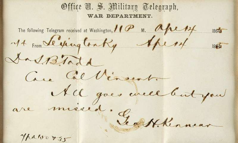 Lock of Lincoln's hair and bloodied telegram up for auction