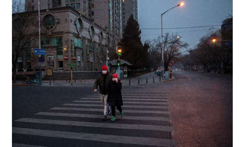Many streets in Beijing are nearly empty amid fears over the coronavirus epidemic—with the death toll soaring above 100, China a