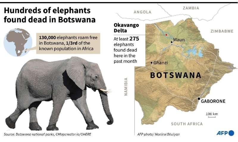 Map locating the Okovango Delta