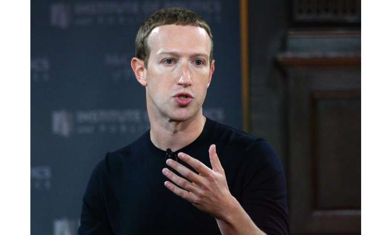 Mark Zuckerberg, pictured in October 2019, has vowed to review Facebook's policies allowing discussion and threats of state use
