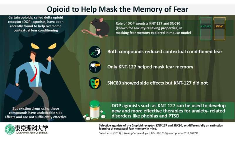 Masking the memory of fear: Treating anxiety disorders such as PTSD with an opioid