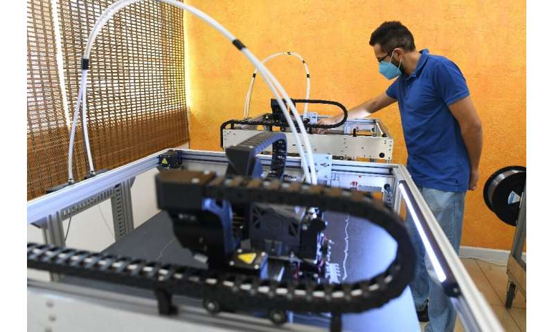 Mehul Shah, the director of Kenya's Ultra Red Techlogies, turned to 3D printing to make face shields for protection