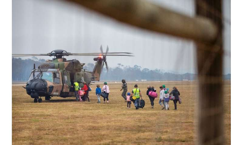 Military teams fanned out across eastern Australia