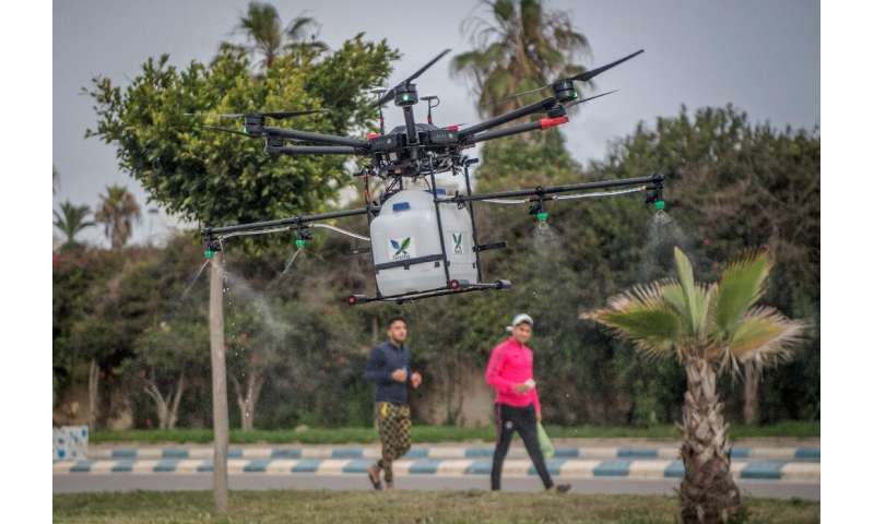 Morocco is trialling high tech solutions like disinfectant-spraying drones to help fight the new coronavirus