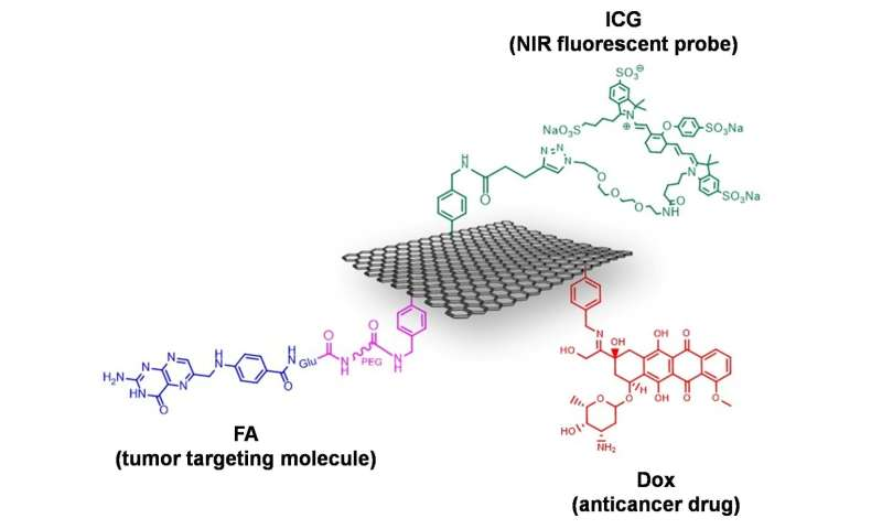 Multi-functionalization of graphene for molecular targeted cancer therapy
