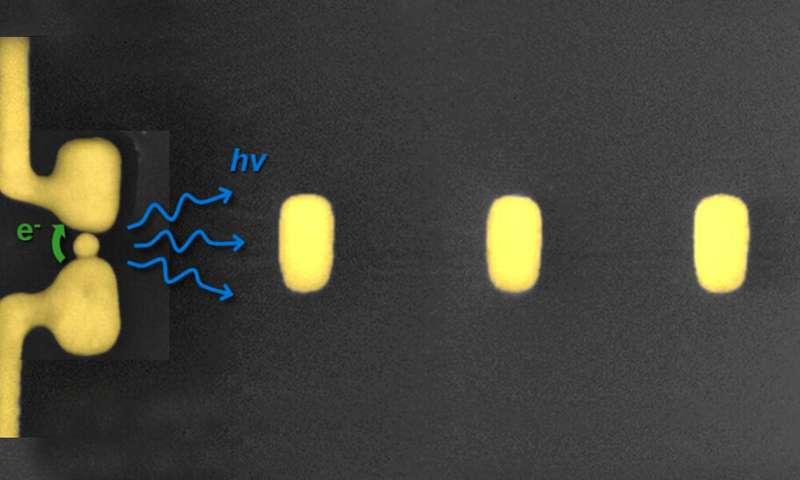 Nano antennas for data transfer