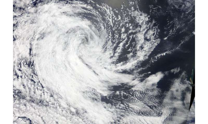 NASA catches the dissipation of Tropical Cyclone Claudia