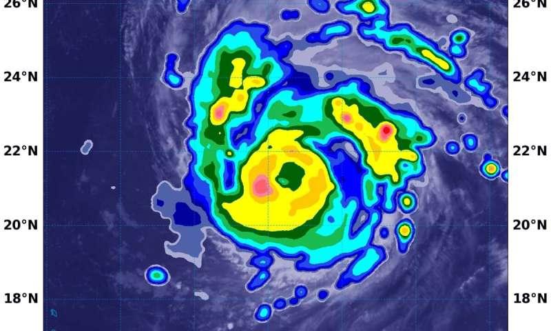 NASA estimates powerful hurricane Teddy's extreme rainfall