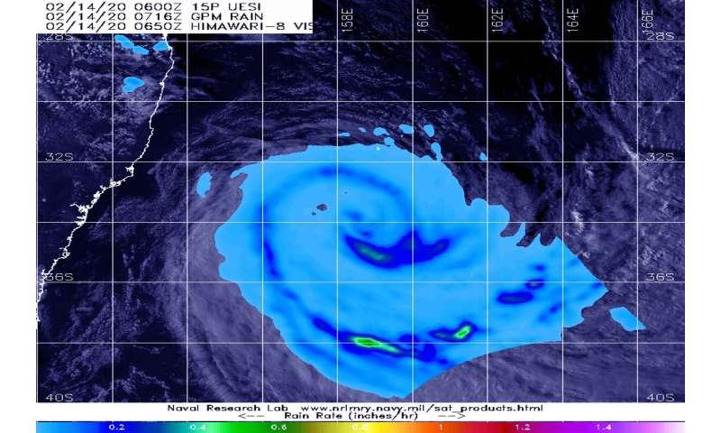 NASA finds ex-Tropical Cyclone Uesi's rains affecting New Zealand