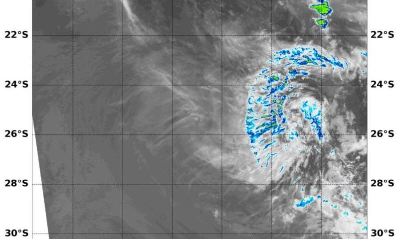 NASA finds little strength left in Tropical Cyclone Herold