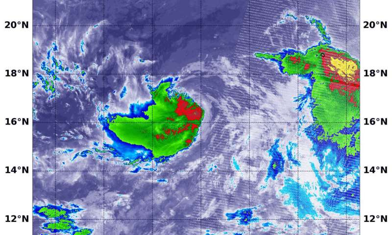 NASA finds new Tropical Storm Iselle already battling wind shear