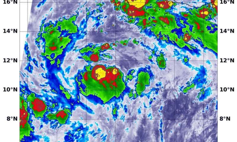 NASA finds powerful storm's around Tropical Storm Cristina's center