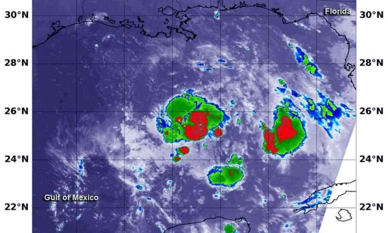 NASA finds strength in new Gulf Tropical Depression 8
