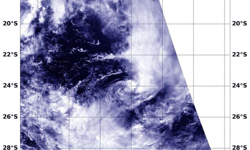 NASA finds wind shear affected new Tropical Cyclone 09S