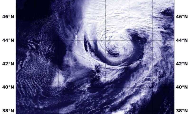 NASA imagery reveals Paulette became a strong extratropical cyclone