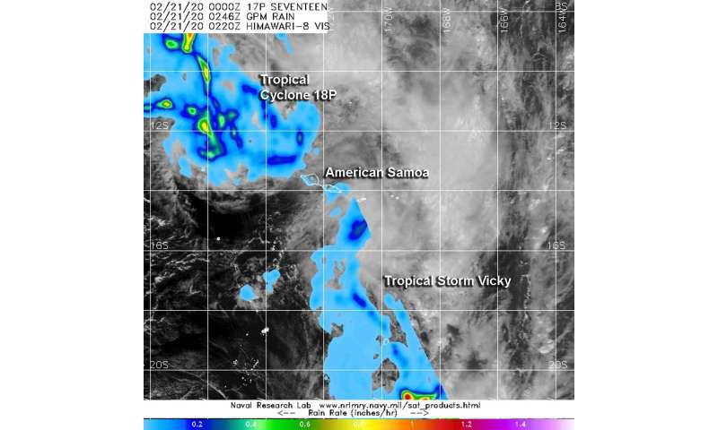 NASA measures rainfall rates in two American Samoa Tropical Cyclones