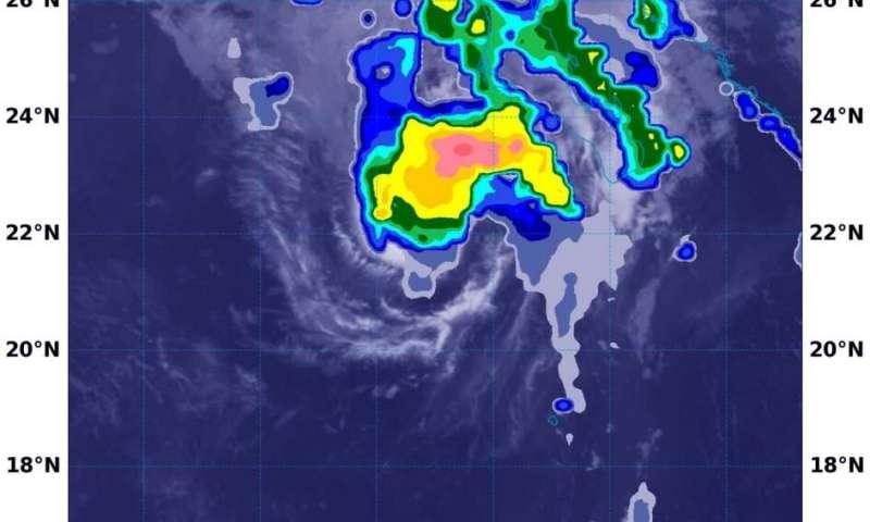 NASA rainfall imagery reveals Norbert regains tropical storm status