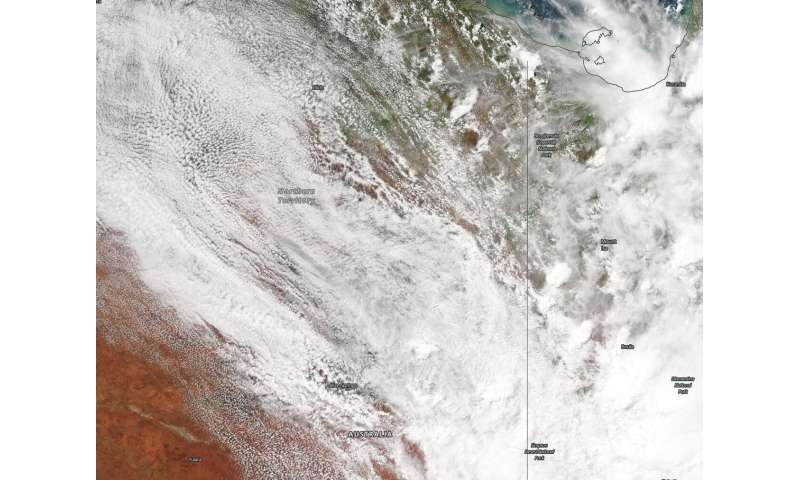 NASA tracks ex-Tropical Cyclone Esther over Northern Territory