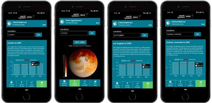 New app allows users to explore how global warming changes their cities' climate