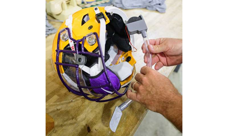 New helmet tech developed to protect players from coronavirus