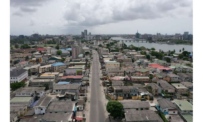 Nigeria's economic hub Lagos is also under lockdown, its streets emptied