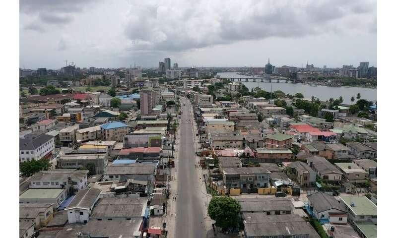 Nigeria's economic hub Lagos is also under lockdown, its streets emptied