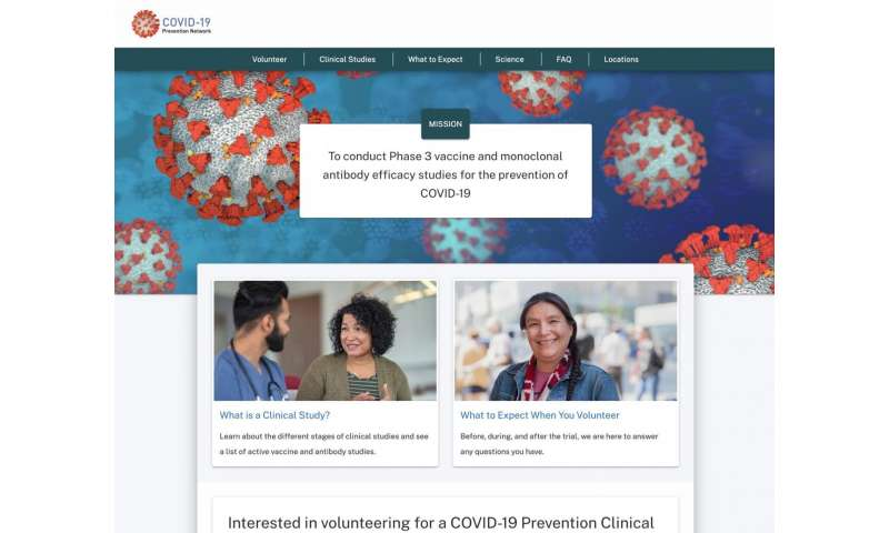 NIH launches clinical trials network to test COVID-19 vaccines and other prevention tools