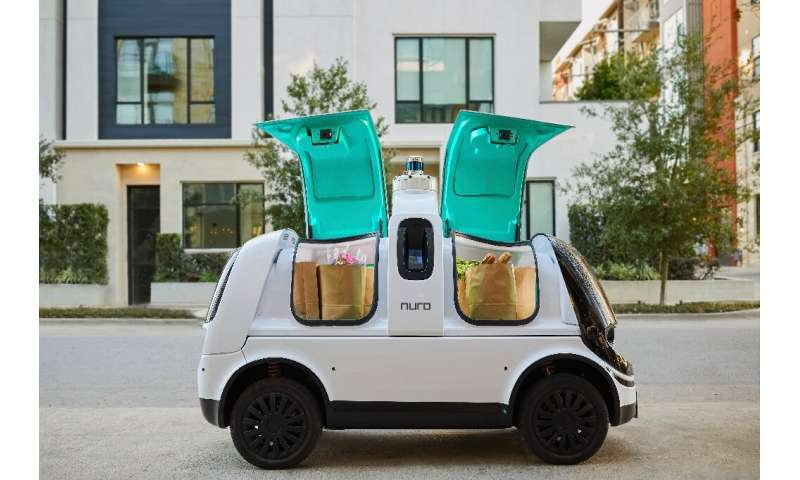 Nuro's R2 self-driving vehicle has been making food deliveries in the Houston area in partnership with Kroger