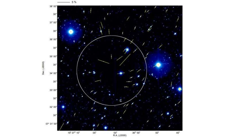 Observations detect distortion of magnetic fields in the protostellar core Barnard 335